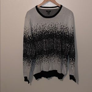 Men's XL cotton splatter print sweater / NEW